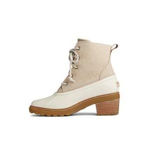 sperry saltwater heel  fashion boots